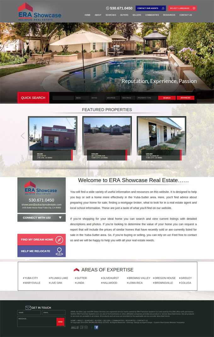 ERA Showcase Real Estate Website